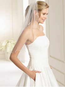 Wedding Veil Q - Elbow Length (Ivory)