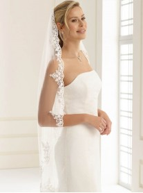 Wedding Veil G - Ballet Length & Lace (Ivory)