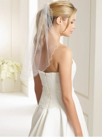 Wedding Veil U - Shoulder Length (Ivory)