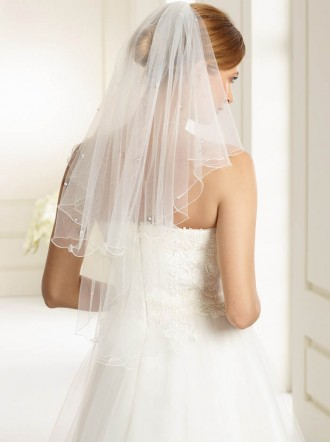 Wedding Veil P - Elbow Length (Ivory)