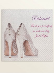Bridesmaid Thank You - Wedding Greetings Card
