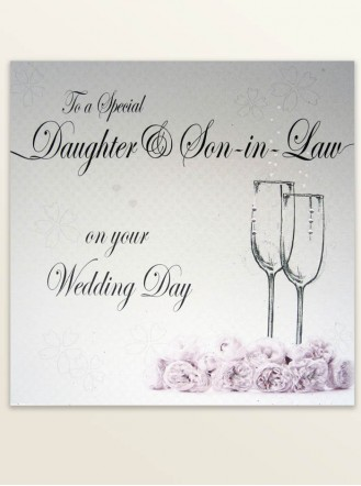 Daughter & Son-In-Law - Wedding Greetings Card