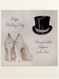 Happy Wedding Day - Wedding Greetings Card