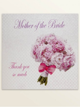 Mother Of The Bride Thank You - Wedding Greetings Card