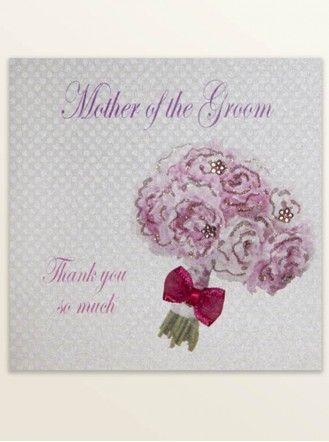 Mother Of The Groom Thank You - Wedding Greetings Card