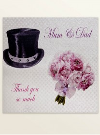 Mum & Dad Thank You - Wedding Greetings Card