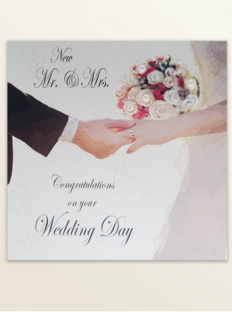 New Mr & Mrs - Wedding Greetings Card