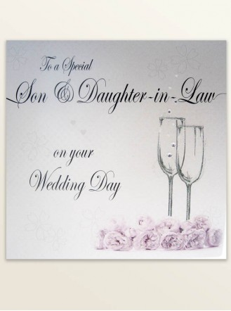 Son & Daughter-In-Law - Wedding Greetings Card