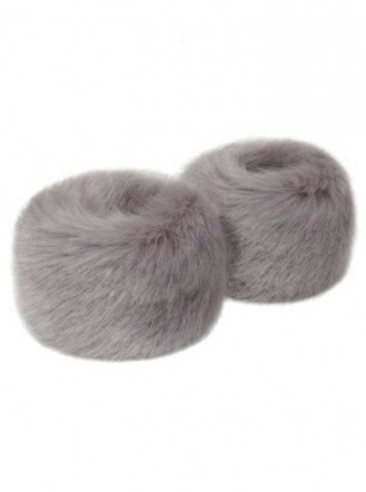 Faux Fur Wrist Warmers - Opal