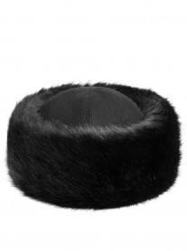 Faux Fur Occasion Hat - Jet