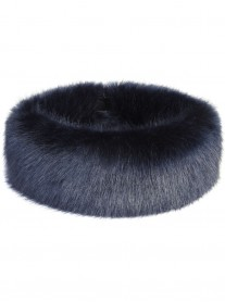Faux Fur Huff - Midnight Blue
