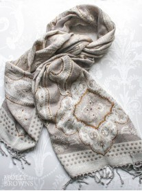 Gold Embellished Pattern Scarf