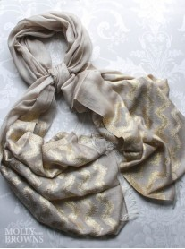 Gold Striped Scarf