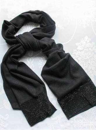 Jewelled Scarf - Black