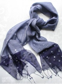 Sequinned Scarf - Blue