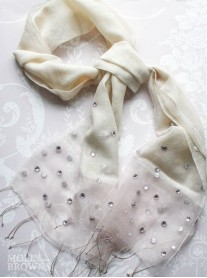 Sequinned Scarf - Pink Champagne